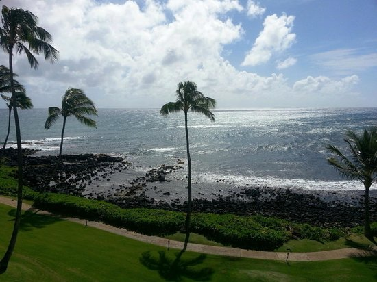 Sheraton Kauai Resort:                   View from ocean front room