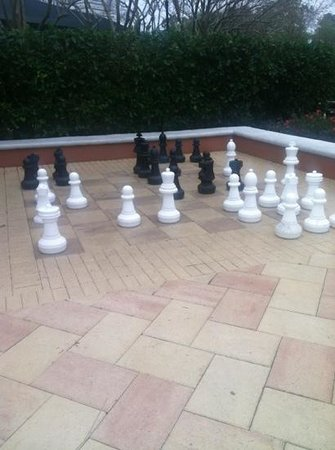 Hilton Grand Vacations at SeaWorld:                   chess anyone?
