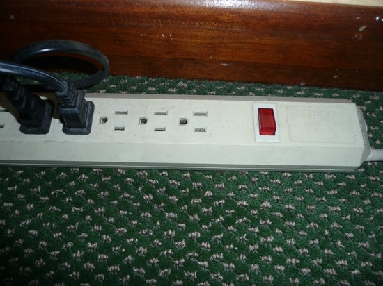Fishermen's Village Resort:                                     Power Strip in Living Area.  TV plugged into this unit.