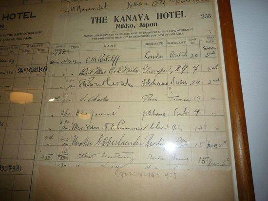 Nikko Kanaya Hotel:                   アインシュタインのサイン