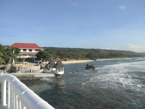 Treasures Of Bolinao Beach Resort Front View Standing The Bridge