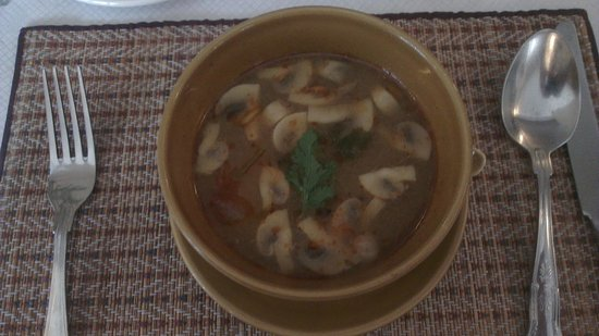 The Thai Orchid:                   hot and sour chicken soup