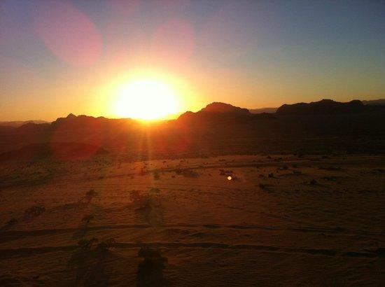 Captain's Desert Camp :                   Wadi Rum sunset