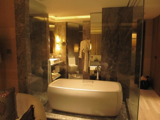 Siam Kempinski Hotel Bangkok:                   Luxurious bathroom