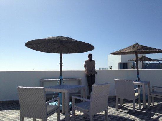 L'Heure Bleue Palais :                                     Sur la terrasse