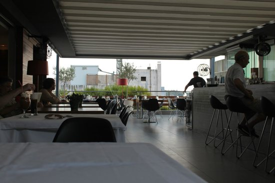 Fresh Hotel:                   Dining area on the roof
