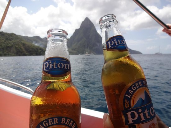 Bay Gardens Beach Resort:                   Pitons at the Pitons!