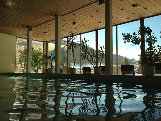 Panorama:                   The pool overlooking the mountains