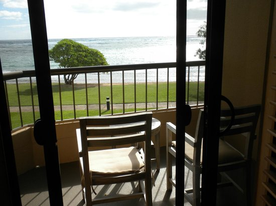 Courtyard Kaua'i at Coconut Beach:                   Our ocean view