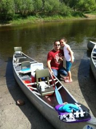 Canoe Outpost-Peace River:                   Taking a break at River