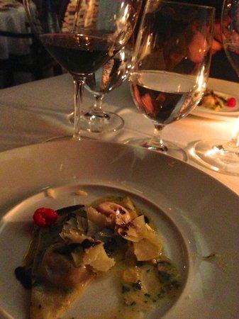 Jaso Restaurant :                   Truffle Ravioli... my favorite course.