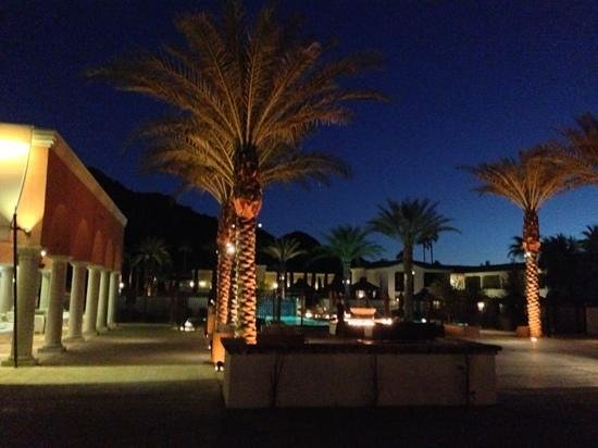Omni Scottsdale Resort & Spa at Montelucia:                   Patio at night