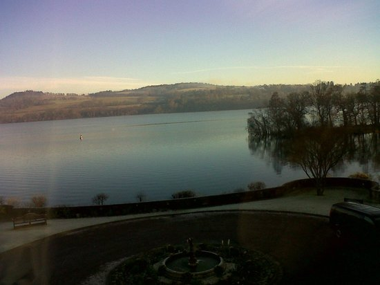 Cameron House on Loch Lomond:                   View from our Suite on the morning of the wedding