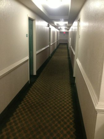 In-Town Suites - Crestwood Suites Fort Myers:                   smoky hallway