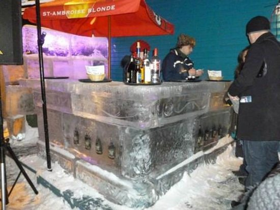 Le Petit Chateau Haldimand:                   Ice bar right next door!