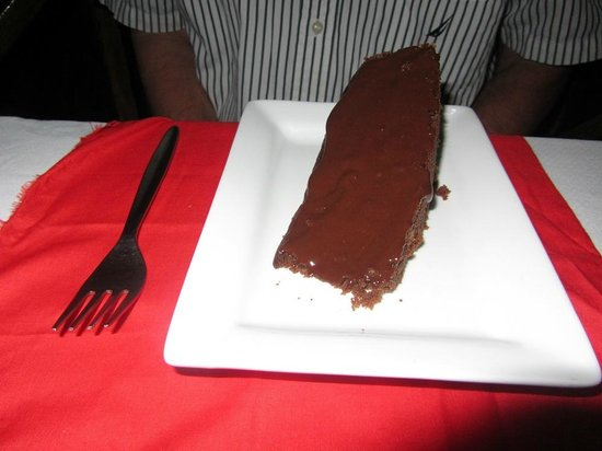 Bamboo Restaurant:                   Huge chunk of decadent chocolate cake!