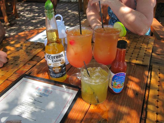 Bugaloo's:                   Beer, 2 rum punch and a margarita...