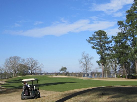 Santee Cooper Country Club:                   Lake Marion in background on 18th Hole...