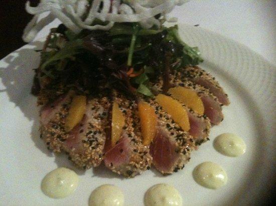 Dewz Restaurant:                   Best sesame crusted ahi tuna salad ever