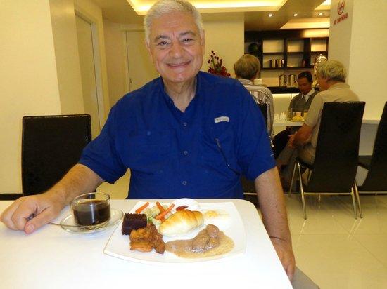 Clover City Center:                   Breakfast -- looks better than it tastes