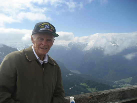 Eagle's Nest Historical Tours:                   Bob overlooking lake 68 years later!