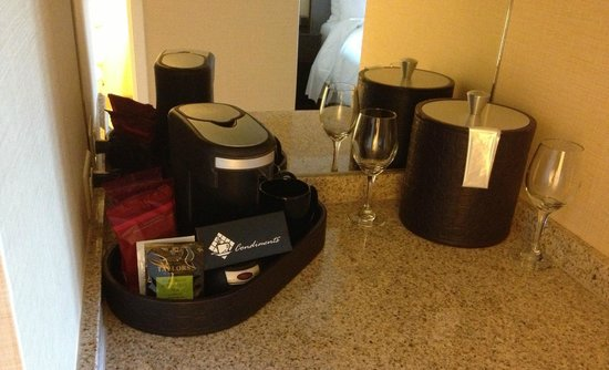 Laguna Cliffs Marriott Resort & Spa :                   Coffee maker, wine glasses, etc.