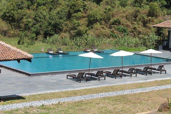 Outdoor pool and sunbeds picture of taj madikeri resort - Resorts in madikeri with swimming pool ...