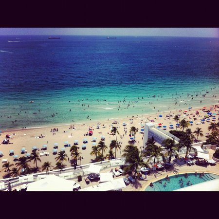 The Ritz-Carlton, Fort Lauderdale:                   View from our room balcony