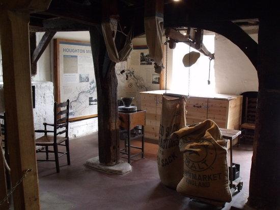 Houghton Mill (National Trust):                                     Inside Houghton Mill.