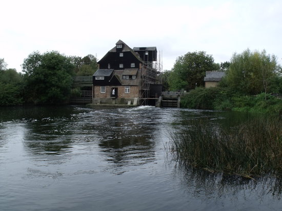 Houghton Mill (National Trust):                                     view of Houghton working water mill.