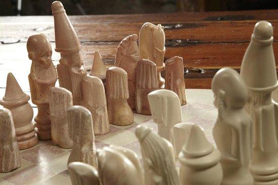 Lowthwaite B & B: Soapstone chess set
