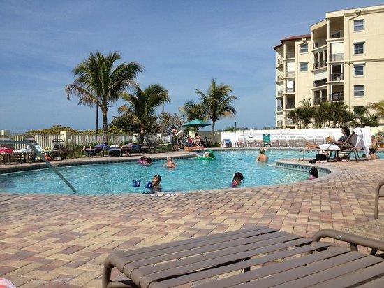Sunset Vistas Beachfront Suites:                   View of pool.