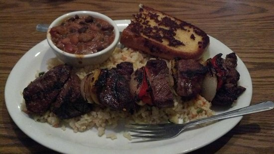 Lone Spur Cafe:                   Our steak kabobs. Mouthwatering delicious.