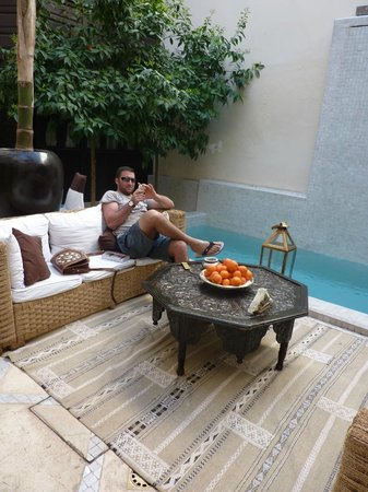 Riad Kheirredine:                   Back from another shopping expedition, waiting for mint tea!