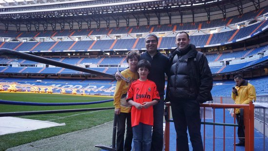 Letango Spain Tours - Private Day Tours :                   With David at the Bernabeu Stadium