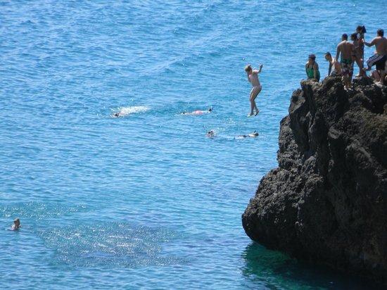 Sheraton Maui Resort & Spa:                   cliff dive!