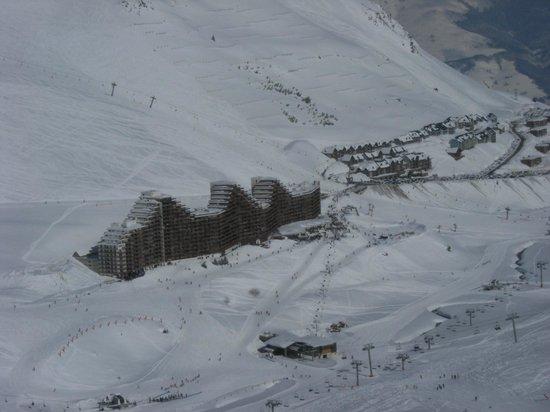 Pierre & Vacances Residence Le Montana: vue du sommet de la montagne
