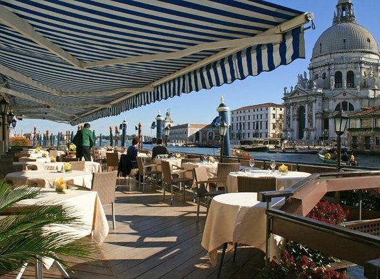The Gritti Palace, A Luxury Collection Hotel :                   Patio at the Gritti overlooking Grand Canal