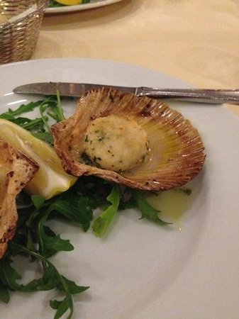 Sindelfingen, Germany:                   scallop appetizer