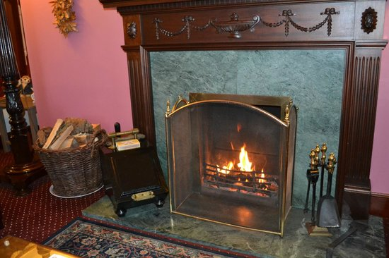 Crubenbeg House:                   Lounge open fire