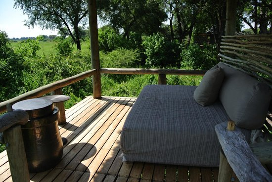Wilderness Safaris Mombo Camp:                   Sun Bed on Deck in Room #3