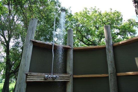 Wilderness Safaris Mombo Camp:                   Outdoor Shower in Room #3