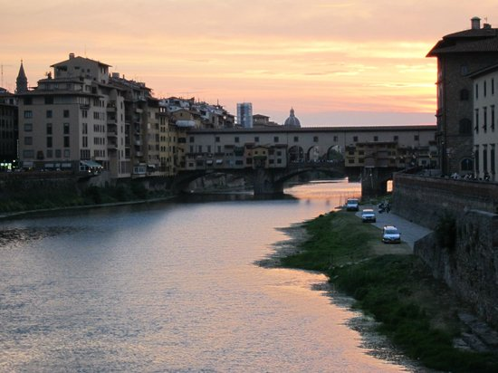 Plus Florence:                   Sunset over the water