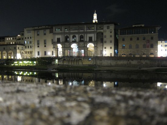 Plus Florence:                   Along the waterfront by night
