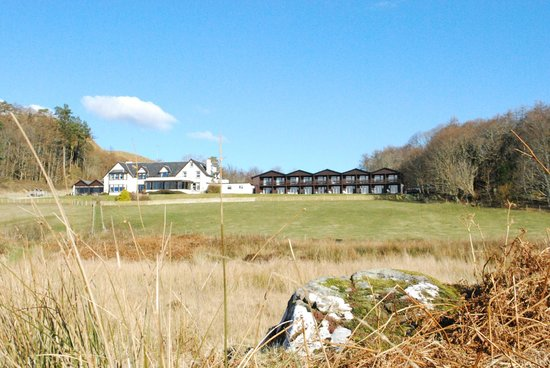 Loch Melfort Hotel and Restaurant:                                     Hotel (as viewed from the Loch)