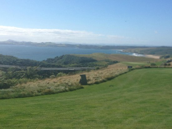 The Lodge at Kauri Cliffs:                   View from clubhouse