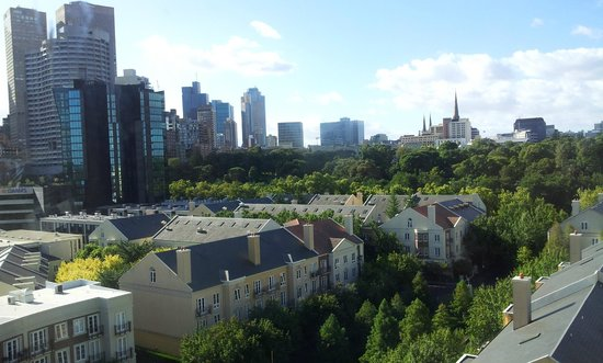 Mantra on Jolimont:                   View from topfloor room 810