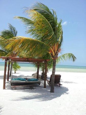 Holbox Hotel Mawimbi:                   Las camas-hamaca...geniales!!