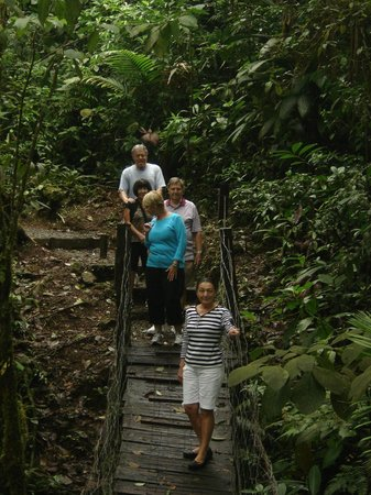 Rio Celeste Hideaway Hotel:                   Small bridge to river from hotel