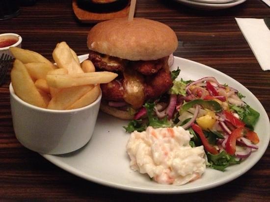 Madisons:                   chicken burger